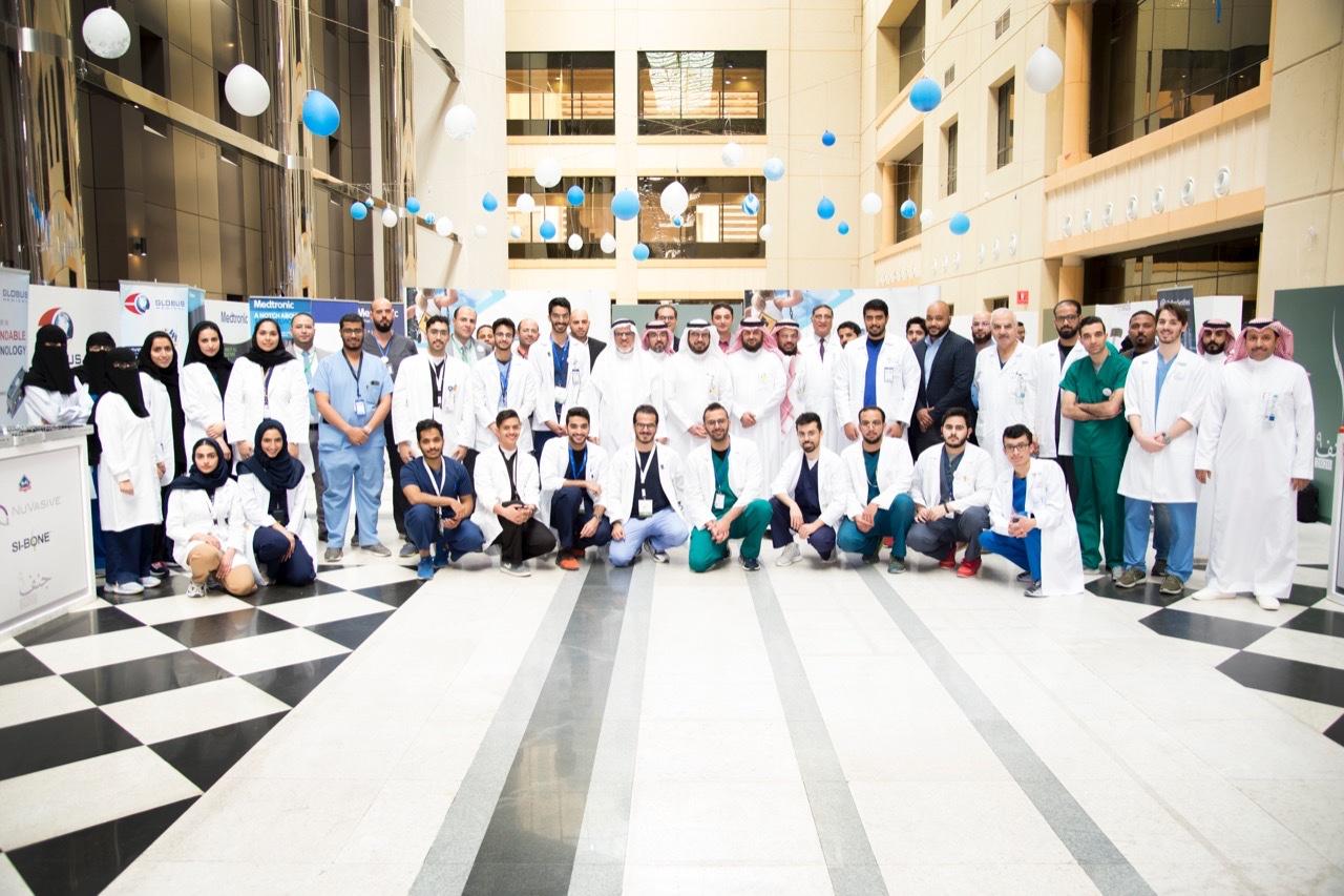 إنطلاق الحملة الوطنية التاسعة للتوعية بانحرافات العمود الفقري بجامعة الملك سعود