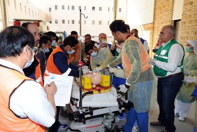طبية جامعة الملك سعود تنفذ فرضية لمواجهة الكوارث بمستشفى الملك خالد الجامعي