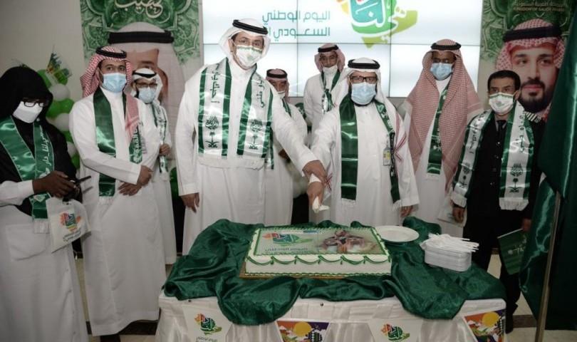 المدينة الطبية الجامعية تحتفل باليوم الوطني 91