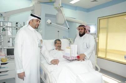 المدينه الطبية بجامعة الملك سعود تعايد المرضى المنومين