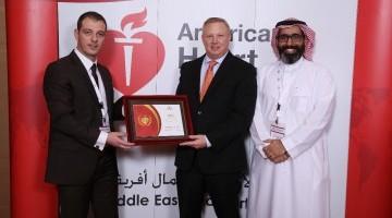 """جمعية القلب الأمريكية تمنح """"الوسام الذهبي"""" لمركز المهارات والمحاكاة الصحية بجامعة الملك سعود"""