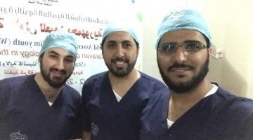 فريق طبي في مجال جراحة العيون ضمن القافلة الطبية السعودية في نيجيريا