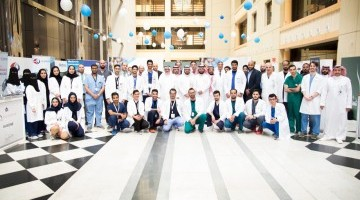 The launch of the ninth national campaign to raise awareness of scoliosis at King Saud University
