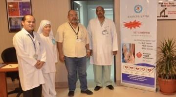 مستشفى الملك عبدالعزيز الجامعي ينظم دورة المبادئ الأساسية للإنعاش القلبي الرئوي