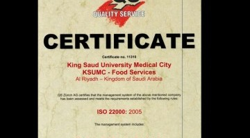The Food Services at King Saud university- Medical City Obtain Food Quality and Safety Accreditation