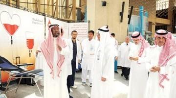 """المدينة الطبية بجامعة الملك سعود تنظِّم أضخم حملة للتبرع بالدم تحت شعار """"شكراً لإنقاذ حياتي"""""""
