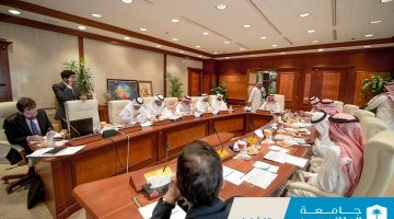 KSU Rector Badran Al-Omar Holds Board Meeting at KSUMC